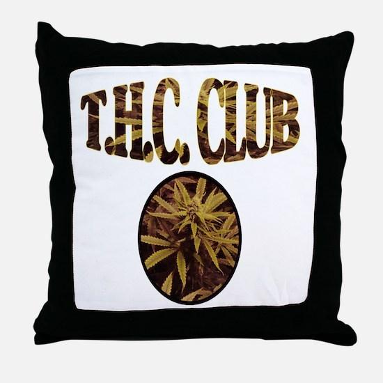 T.H.C. CLUB Throw Pillow