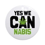 Yes We Cannabis 2 Ornament (Round)