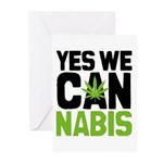 Yes We Cannabis 2 Greeting Cards (Pk of 10)