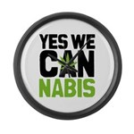 Yes We Cannabis 2 Large Wall Clock