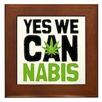 Yes We Cannabis 2 Framed Tile
