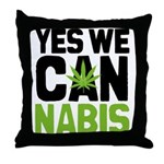 Yes We Cannabis 2 Throw Pillow