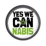 Yes We Cannabis 2 Wall Clock