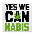 Yes We Cannabis 2 Tile Coaster