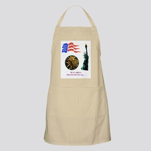 LIBERTY & JUSTICE FOR ALL BBQ Apron