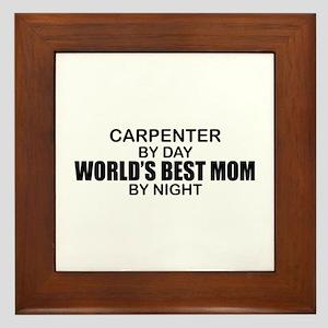 World's Best Mom - Carpenter Framed Tile