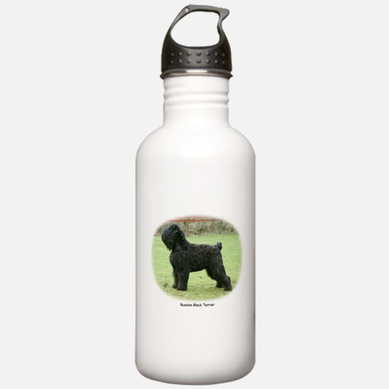 Russian Black Terrier Sports Water Bottle