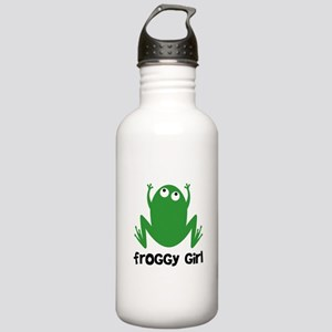 Froggy Girl Stainless Water Bottle 1.0L