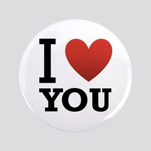 """I Love You 3.5"""" Button"""