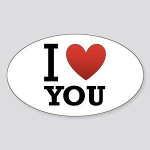 I Love You Sticker (Oval)