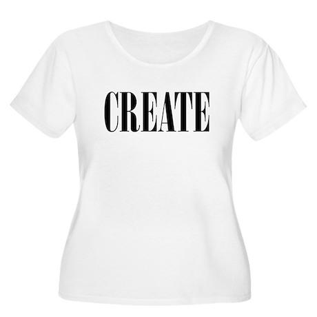 CREATE Women's Plus Size Scoop Neck T-Shirt