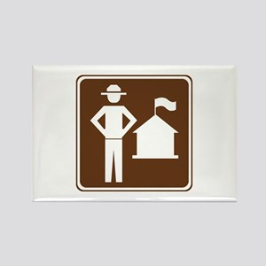 Ranger Station Sign Rectangle Magnet