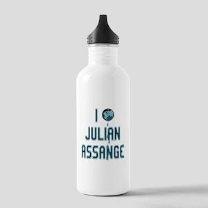 I Love Julian Assange Wikileaks Stainless Water Bo