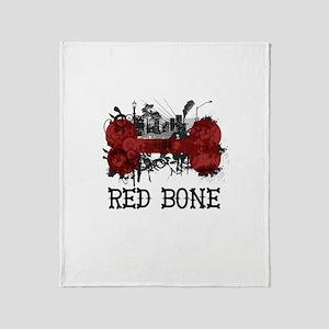 Riyah-Li Designs Red Bone Throw Blanket