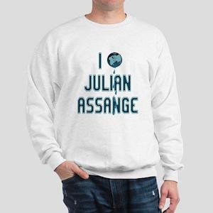 I Love Julian Assange Wikileaks Sweatshirt