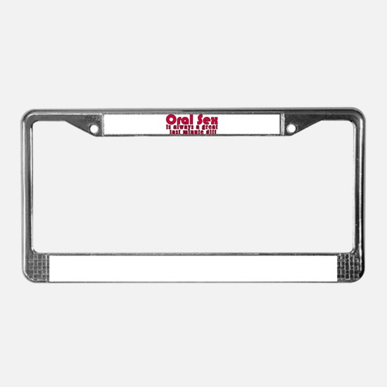 Last Minute Gift License Plate Frame