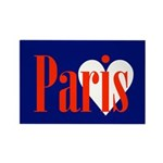Paris Rectangle Magnet (10 Pack) Magnets