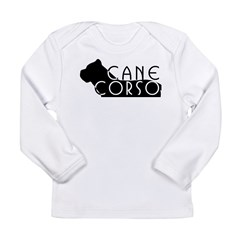 Black Cane Corso Long Sleeve Infant T-Shirt