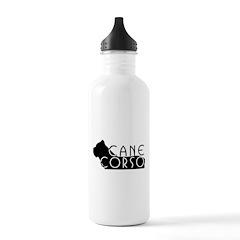 Black Cane Corso Water Bottle