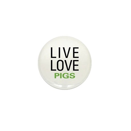 Live Love Pigs Mini Button (100 pack)