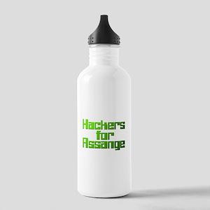 Hackers For Assange Wikileaks Stainless Water Bott