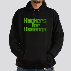 Hackers For Assange Wikileaks Hoodie (dark)