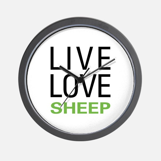 Live Love Sheep Wall Clock