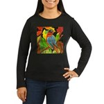 Colorful Parrot Women's Long Sleeve Dark T-Shirt