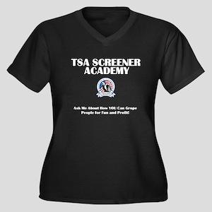 TSA Academy - Groping for Fun Women's Plus Size V-