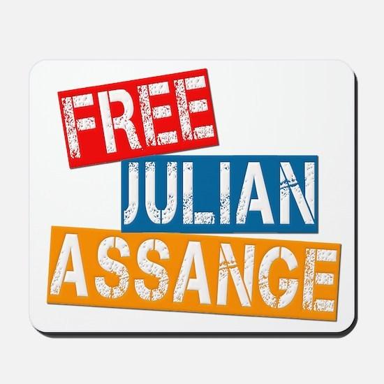 Free Julian Assange Mousepad