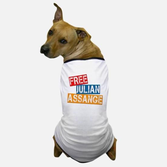 Free Julian Assange Dog T-Shirt