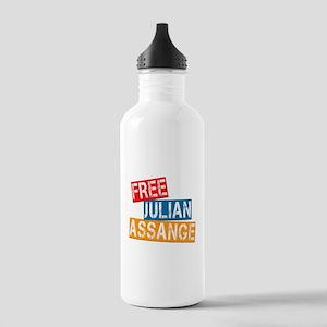 Free Julian Assange Stainless Water Bottle 1.0L