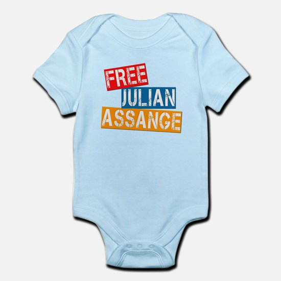 Free Julian Assange Infant Bodysuit