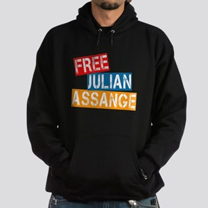 Free Julian Assange Hoodie (dark)