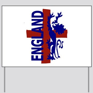 St George and lion Yard Sign