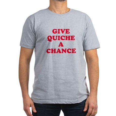 Give Quiche A Chance! Men's Fitted T-Shirt (dark)
