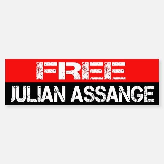 Free julian assange bumpersticker sticker bumper