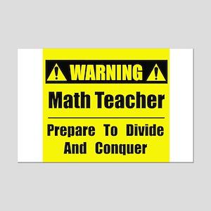 WARNING: Math Teacher 1 Mini Poster Print