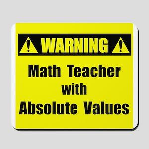 WARNING: Math Teacher 2 Mousepad
