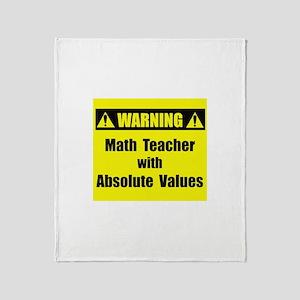 WARNING: Math Teacher 2 Throw Blanket