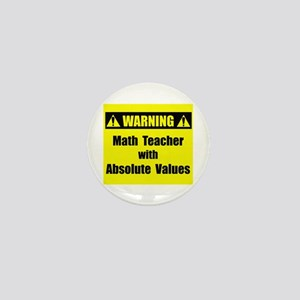 WARNING: Math Teacher 2 Mini Button