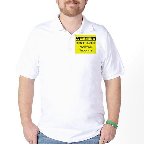 WARNING: Science Teacher Golf Shirt