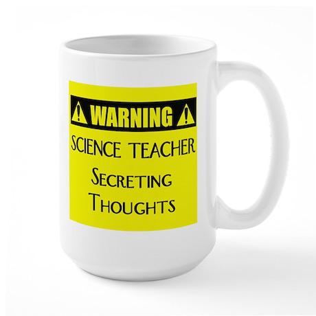 WARNING: Science Teacher Large Mug