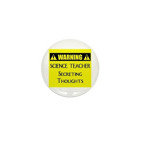 WARNING: Science Teacher Mini Button