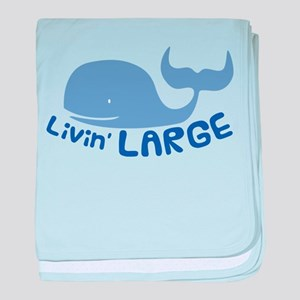 Livin' Large Whale baby blanket