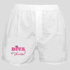 Diva of a Nurse! Boxer Shorts
