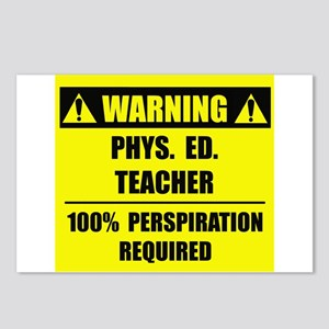 WARNING: P.E. Teacher Postcards (Package of 8)