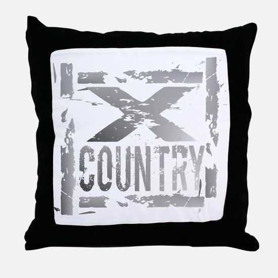 Cross Country Grunge Throw Pillow