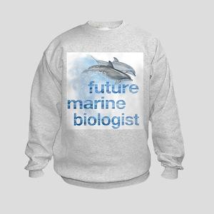 future Marine Biologist Kids Sweatshirt
