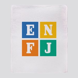 Myers-Briggs ENFJ Throw Blanket